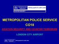 metropolitan police service co18 - London City Airport Consultative ...