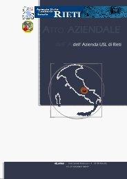 ATTO AZIENDA AZIENDALE - Azienda USL Rieti