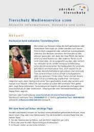 Tierschutz Medienservice 4/2008