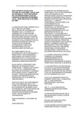 real decreto legislativo 781/1986, de 18 de abril, por el que se ...