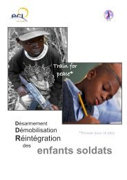enfants soldats - CREDHO