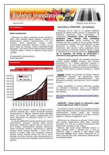 aktywa rachunki - mBank