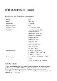 BFH, 28.06.2012, III R 86/09 - Wolters Kluwer Deutschland GmbH