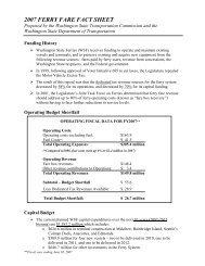 2007 Ferry Fare Fact Sheet - Washington State Transportation ...