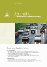 August 2013 Vol 24 No 3 - Australasian College of Road Safety