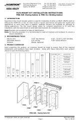 FLEX MOUNT KIT INSTALLATION INSTRUCTIONS ... - Hoover Fence