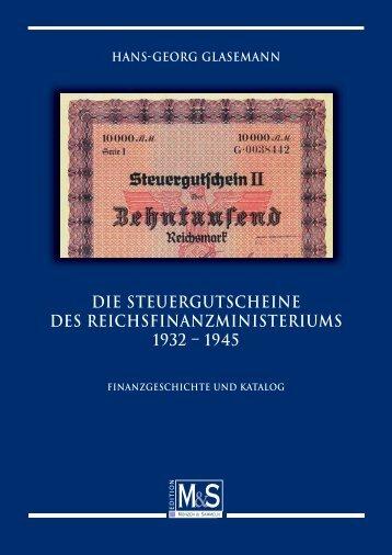 DIE STEUERGUTSCHEINE DES REICHSFINANZMINISTERIUMS ...
