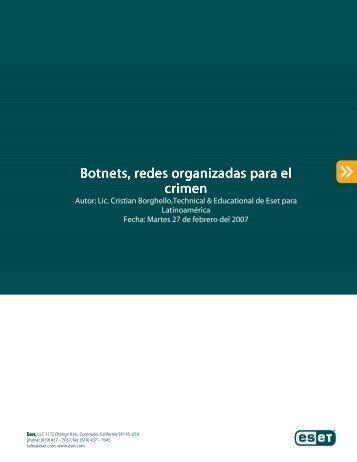 Botnets, redes organizadas para el crimen - Eset
