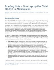 Briefing Note – One Laptop Per Child (OLPC) in Afghanistan