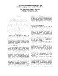 Dominey PF (2003a) - Institut des Sciences cognitives - CNRS