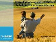 Formuleringen og aktivstoffernes betydning for ... - DLG Tele