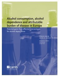 Alcohol consumption, alcohol dependence and attributable burden ...