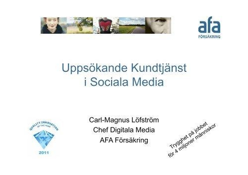 Uppsökande Kundtjänst i Sociala Media