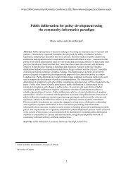 Public deliberation for policy development using the ... - CCNR