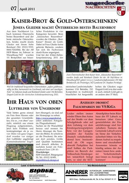 FASCHING? NICHT OHNE KRAPFEN! - Gemeinde Ungerdorf