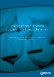 Ensuring balance in national policies on controlled substances