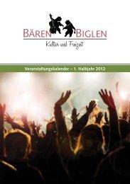 Veranstaltungskalender – 1. Halbjahr 2012