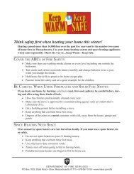 Think safety first when heating your home this winter! - Mass.Gov
