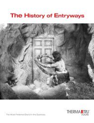 The History of Entryways - Thermal Windows, Inc.