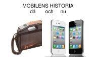 mobilen historia klar - Teknik från Lillåns skola