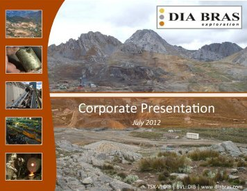 Corporate PresentaÇon - Dia Bras Exploration