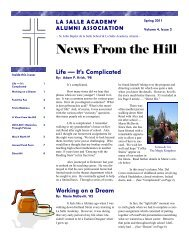 News From the Hill - Vol IV - Issue 2.pub - La Salle Academy