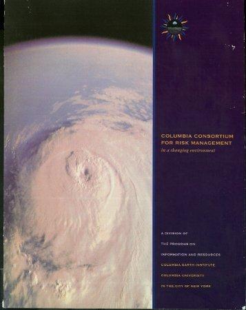 COLUMBIA CONSORTIUM FOR RISK MANAGEMENT - Chichilnisky