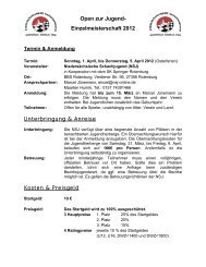 Zur Ausschreibung - Niedersächsische Schachjugend