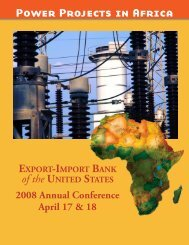 Power Projects in Africa - Export-Import Bank of the United States