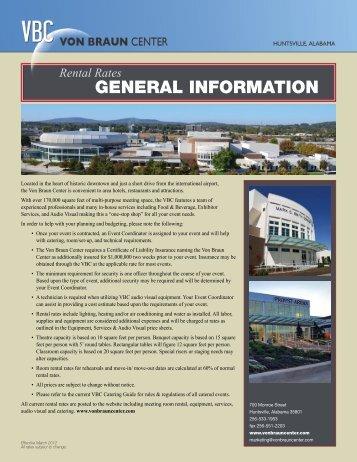 VBC Event Planner Guide - Von Braun Center