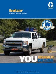 RoadLazer RoadPak Brochure - Graco Inc.