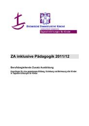 ZA inklusive Pädagogik 2011/12 Berufsbegleitende Zusatz Ausbildung