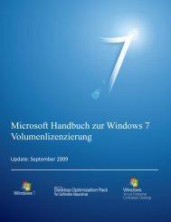 Microsoft Handbuch zur Windows 7 Volumenlizenzierung - unilab