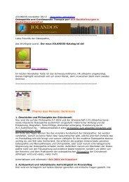 Thema des Monats: Seminare - Jolandos