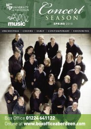 music spring 2010 - University of Aberdeen