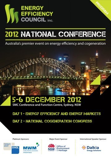 2012 NATIONAL CONFERENCE - Energy Efficiency Council