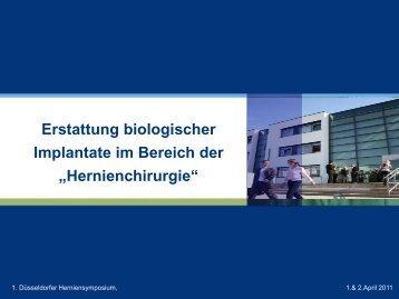 Erstattung biologischer Implantate im Bereich der ... - Bsbb
