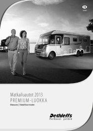 Matkailuautot Premium-luokka - Hinnasto ja teknilliset ... - Dethleffs