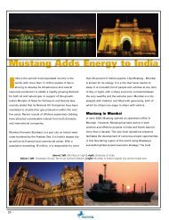 Mustang Adds Energy to India - Mustang Engineering Inc.