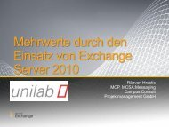 Darauf basierend in Exchange Server 2010 - unilab