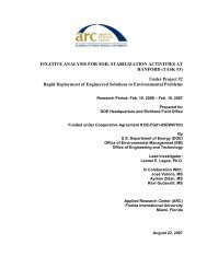 FIXATIVE ANALYSIS FOR SOIL STABILIZATION ACTIVITIES AT ...