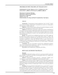 625 The risk of posT-TransplanT malignancy - Clujul Medical