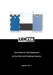 Test Charts & Test Equipment for the Paint and Coatings ... - Labomat