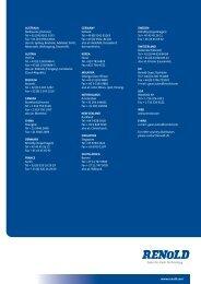 General products brochure - Renold Canada