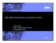 IBM HPC Toolkit - Computation