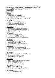 Bayerische TRIATHLON Meisterschaften 2006 - Bayerischer ...