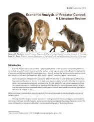 Economic Analysis of Predator Control: A Literature Review