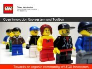 Towards an organic community of LEGO Innovators - KEA