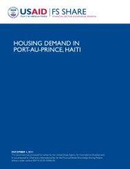 Housing Demand in Port-au-Prince, Haiti - usaid