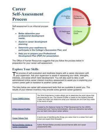 Career Assessment Template